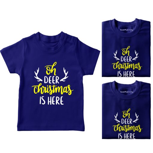 Christmas-Is-Here-Family-Combo-T-Shirt-Blue