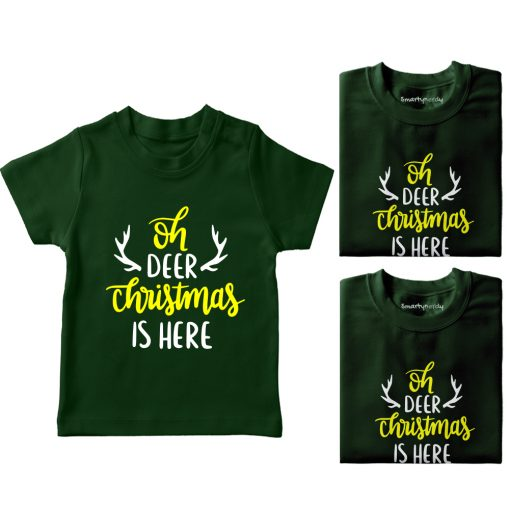 Christmas-Is-Here-Family-Combo-T-Shirt-Green