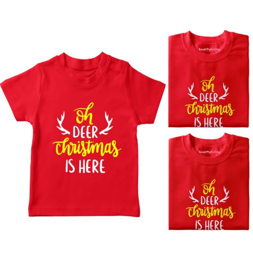 Christmas-Is-Here-Family-Combo-T-Shirt-Red