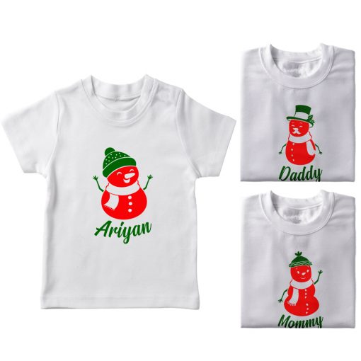 Christmas-Snowman-Family-Combo-T-Shirt-White