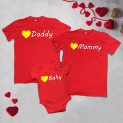Daddy,-Mommy-&-Baby-Family-Combo-T-Shirt-Content