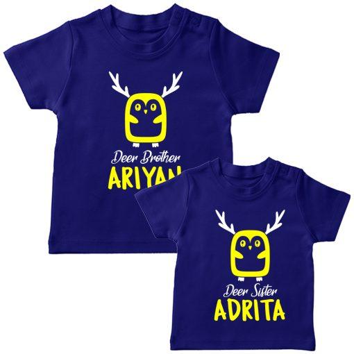 Deer-Siblings-T-Shirt-Blue