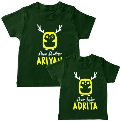 Deer-Siblings-T-Shirt-Green