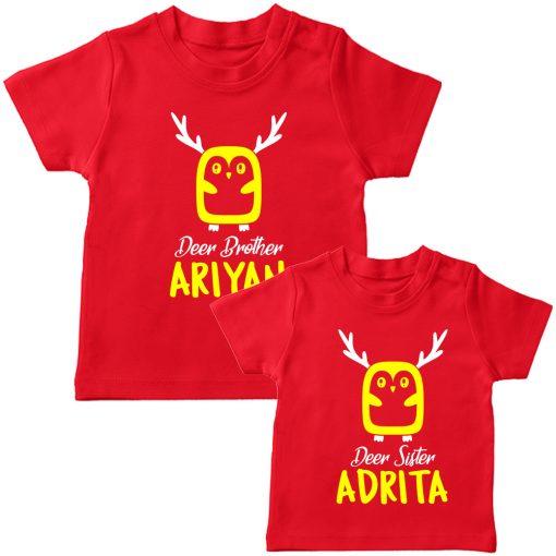 Deer-Siblings-T-Shirt-Red