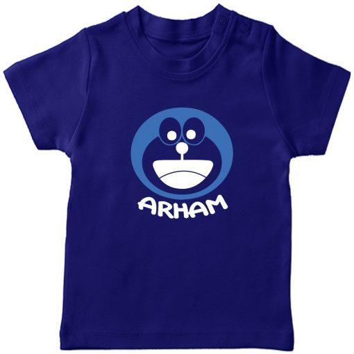 Doremon-Kids-Favourite-Customized-Name-T-Shirt-Blue