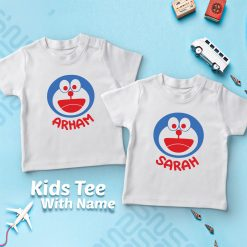 Doremon-Kids-Favourite-Customized-Name-T-Shirt-Content