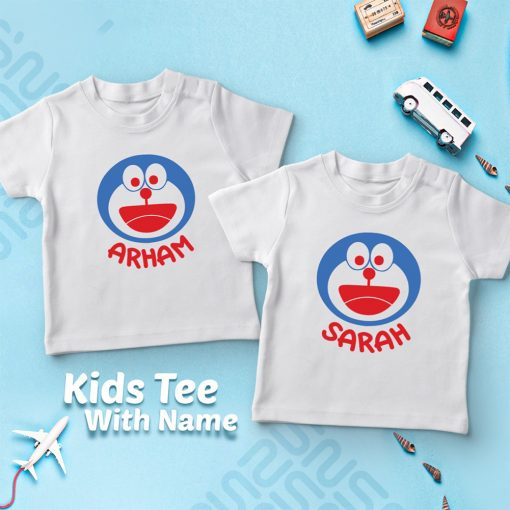 Doremon-Kids-Favourite-Customized-Name-T-Shirt-Content