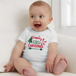 First-Christmas-Customized-Name-Baby--Romper-Content