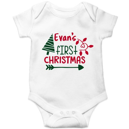 First-Christmas-Customized-Name-Baby--Romper-White