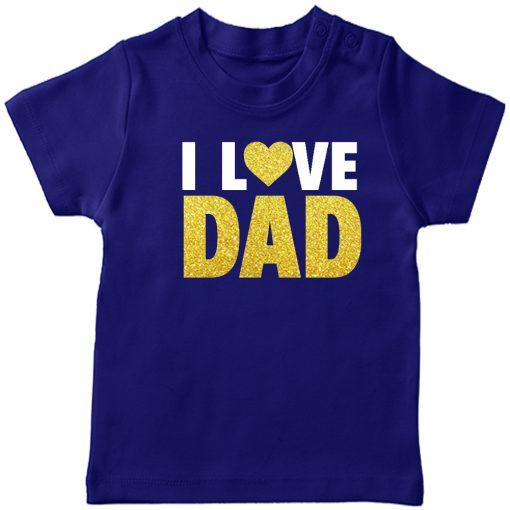 I-Love-Dad-T-Shirt-Blue