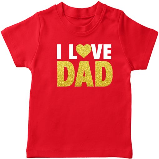I-Love-Dad-T-Shirt-Red