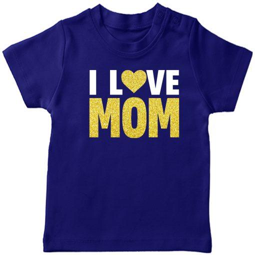 I-Love-Mom-T-Shirt-Blue