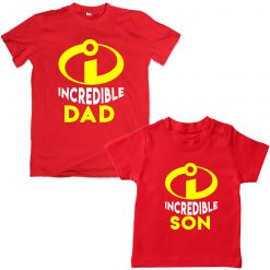Incredible-Family-Combo-T-Shirt-Red