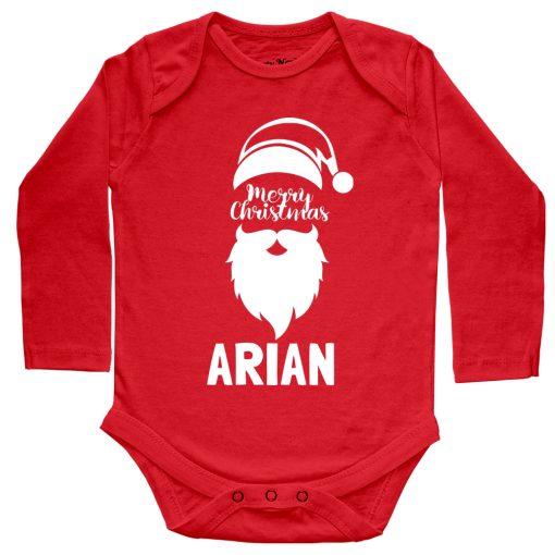 Merry-Christmas-Baby-Romper-Full-Sleeve-Red