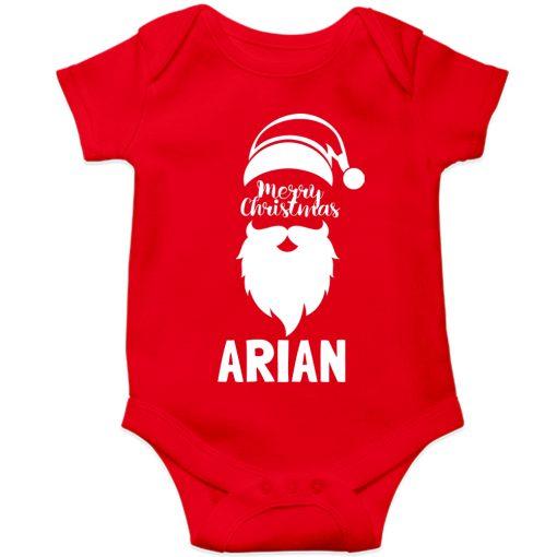 Merry-Christmas-Baby-Romper-Half-Sleeve-Red