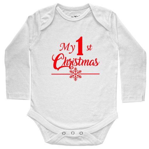 My-1st-Christmas-Baby-Romper-White
