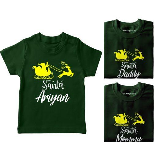 Santa-Family-Combo-T-Shirt-Green