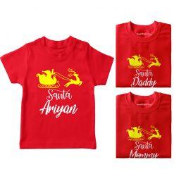 Santa-Family-Combo-T-Shirt-Red