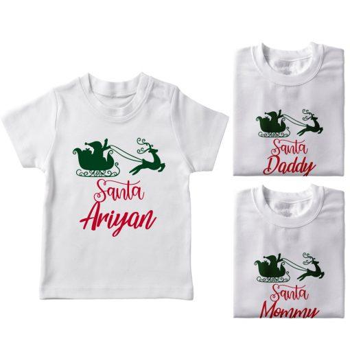 Santa-Family-Combo-T-Shirt-White