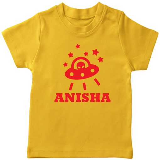 Space-Customized-Name-T-Shirt-Yellow