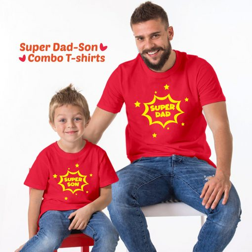 Super-Dad-Son-Family-Combo-T-Shirt-Content