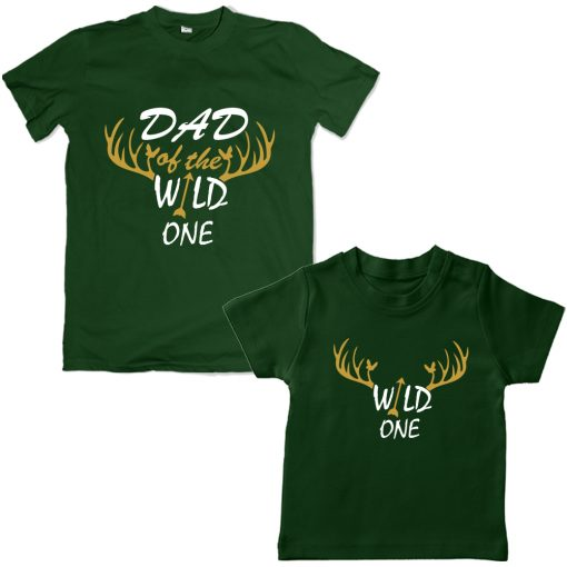 Wild-Dad-Son-Family-Combo-T-Shirt-Green