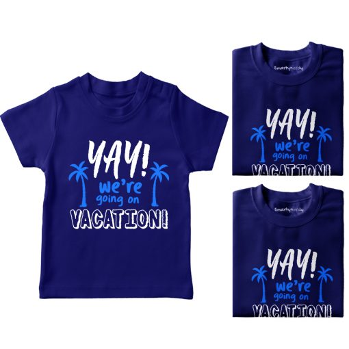Yay-We're-Going-On-Vacation-Family-Combo-T-Shirt-Blue