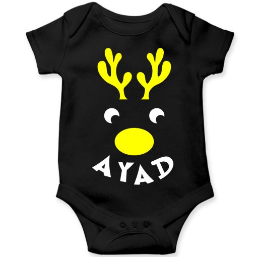 Deer-Christmas-Baby-Romper-Black