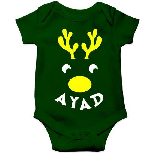 Deer-Christmas-Baby-Romper-Green