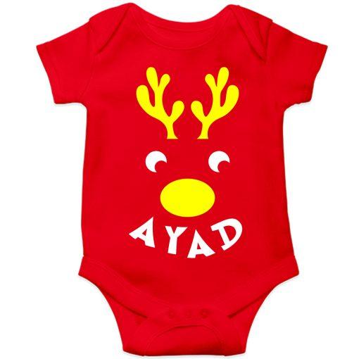 Deer-Christmas-Baby-Romper-Red