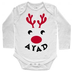 Deer-Christmas-Baby-Romper-White-Full-Sleeve