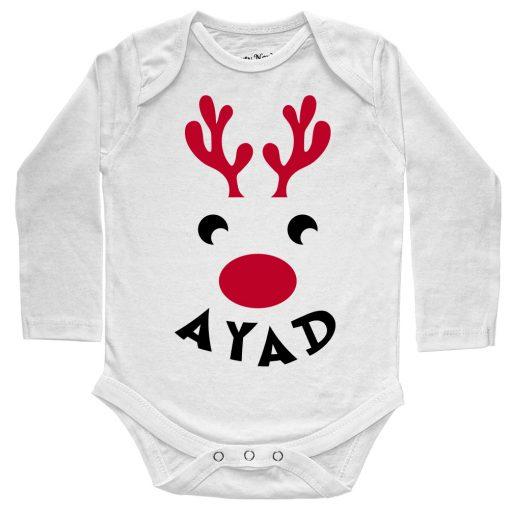 Deer-Christmas-Baby-Romper-White-Full-Sleeve