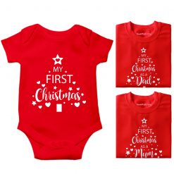First-Christmass-Family-Combo-T-Shirt-Red