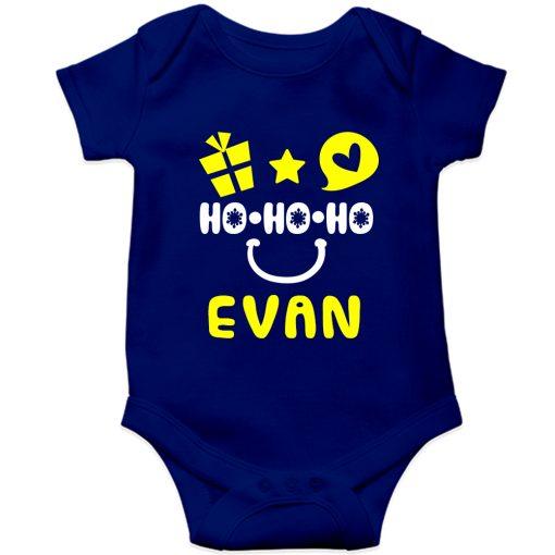 HO-HO-HO-Christmas-Baby-Romper-Blue-Half-Sleeve