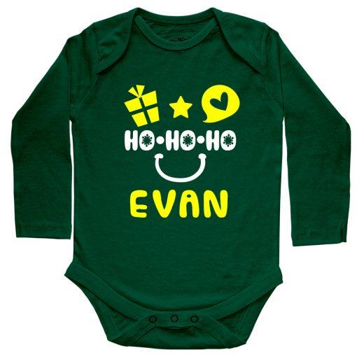 HO-HO-HO-Christmas-Baby-Romper-Green