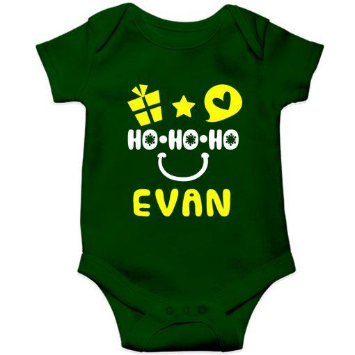 HO-HO-HO-Christmas-Baby-Romper-Green-Half-Sleeve