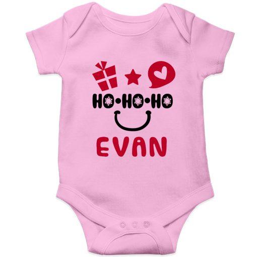 HO-HO-HO-Christmas-Baby-Romper-Pink-Half-Sleeve