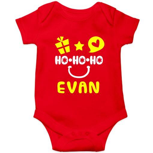 HO-HO-HO-Christmas-Baby-Romper-Red-Half-Sleeve