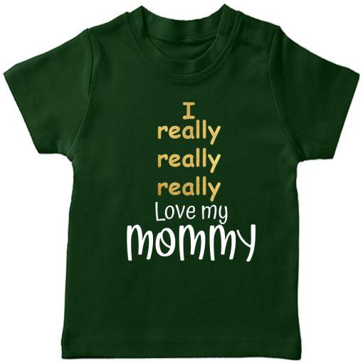 I-Really-Really-Love-My-Mom-&-Dad-T-Shirt-Green