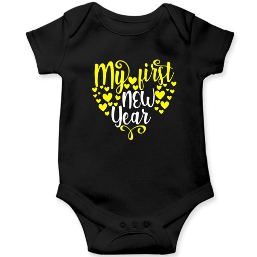 My-First-New-Year-Heart-Shaped-Baby-Romper-Black