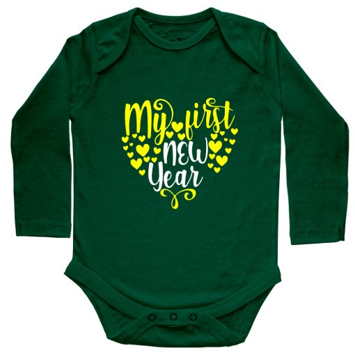 My-First-New-Year-Heart-Shaped-Baby-Romper-Green-Full
