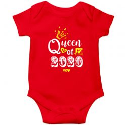 Queen-of-2020-Baby-Romper-Red