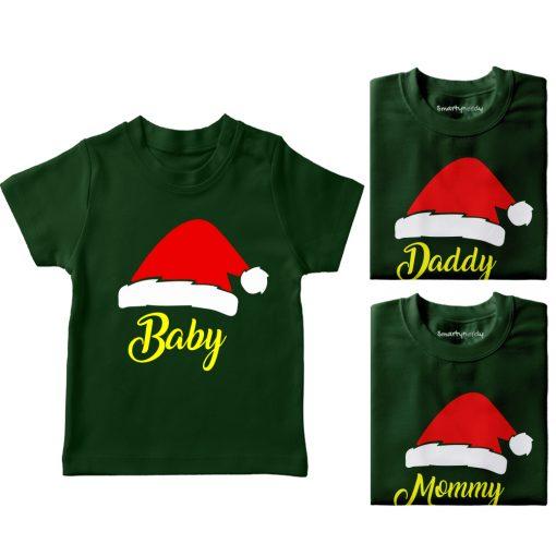 Santa-Claus-Hat-Family-Combo-Tees-Green