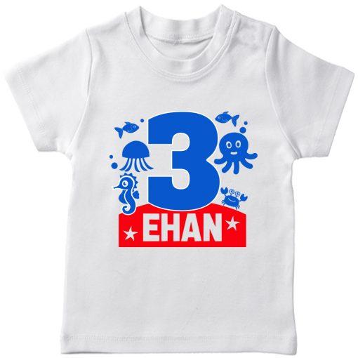 Sea-Name-Customized-Name-Birthday-Kids-Tee-White