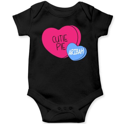 Cutie-Pie-Customized-Name-Baby-Romper-Black