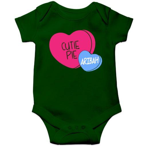 Cutie-Pie-Customized-Name-Baby-Romper-Green