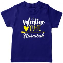 Valentines-Cutie-Customized-Name-Tee-Half-Sleeve-Blue