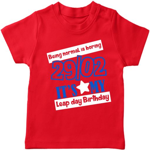 Being-Normal-Is-Boring-Leap-Year-T-Shirt-Red