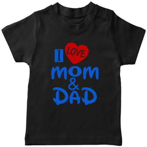 I-Love-Mom-&-Dad-T-Shirt-Black