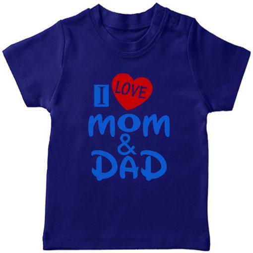 I-Love-Mom-&-Dad-T-Shirt-Blue